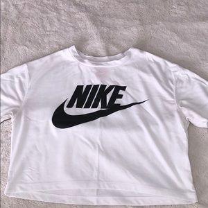 White Nike Cropped T-shirt